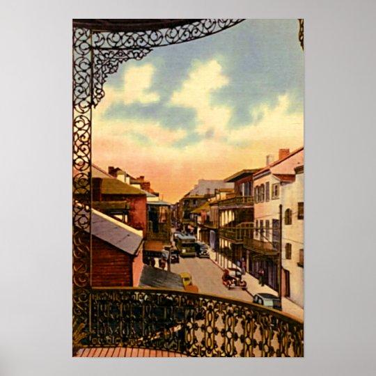 New Orleans Louisiana Royal Street Balcony Poster