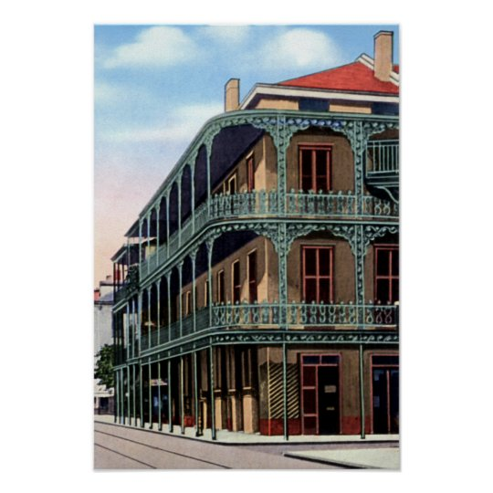 New Orleans Louisiana Royal Street Ironwork Poster
