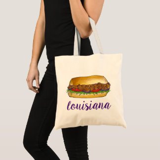 New Orleans Louisiana Shrimp Po'Boy Sandwich NOLA Tote Bag
