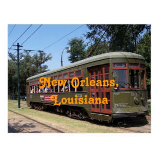 New Orleans,Louisiana Streetcar Postcard