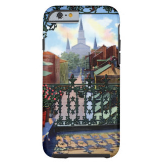 New Orleans Louisiana Vieux Carre Balcony Scene Tough iPhone 6 Case