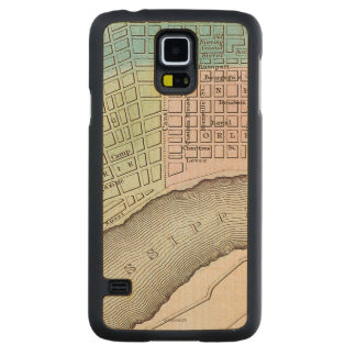 New Orleans Map, 1837 Carved Maple Galaxy S5 Case
