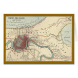 New Orleans Map 1900 Greeting Card