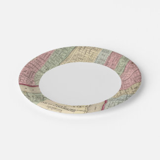 New Orleans Map by Mitchell 7 Inch Paper Plate