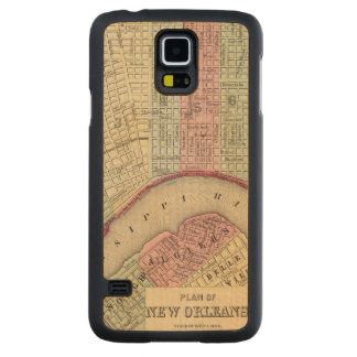 New Orleans Map by Mitchell Carved Maple Galaxy S5 Case