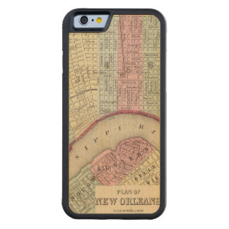 New Orleans Map by Mitchell Carved Maple iPhone 6 Bumper Case