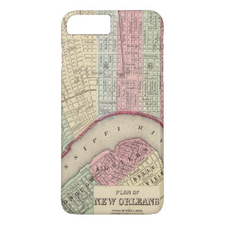 New Orleans Map by Mitchell iPhone 8 Plus/7 Plus Case