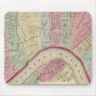 New Orleans Map by Mitchell Mouse Mat