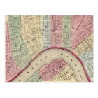 New Orleans Map by Mitchell Postcard