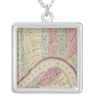 New Orleans Map by Mitchell Silver Plated Necklace