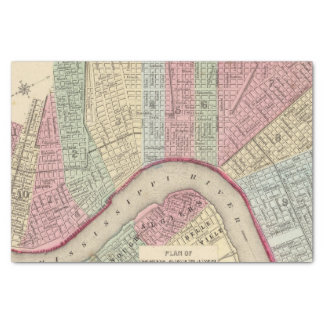 New Orleans Map by Mitchell Tissue Paper