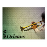 New Orleans Mardi Gras and Jazz Photomanipulation Postcard