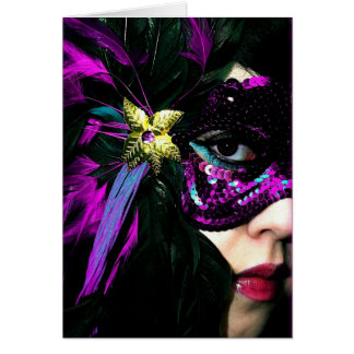 New Orleans Mardi Gras Mask Greeting Card