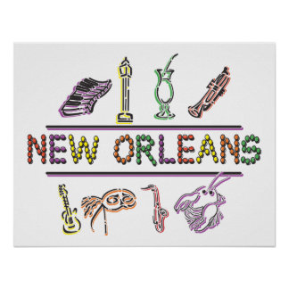 New Orleans Mardi Gras Poster