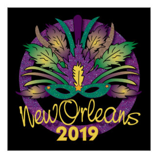 New Orleans Mask Poster - 2019