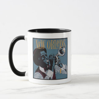 New Orleans Music custom monogram mugs