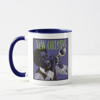 New Orleans Music custom monogram mugs