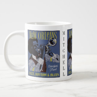 New Orleans Music custom name jumbo mug