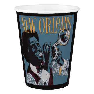 New Orleans Music paper cups