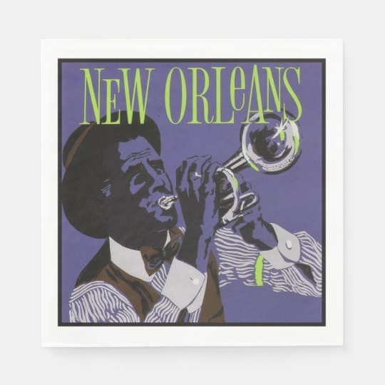 New Orleans Music paper napkins