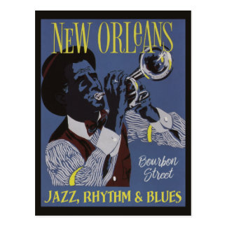 New Orleans Music postcard