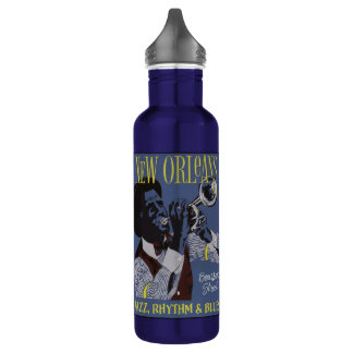New Orleans Music water bottles