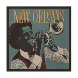 New Orleans Music wood wall art Wood Canvases