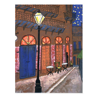 New Orleans Night Cafe Postcard