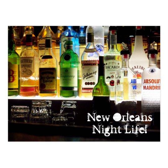 New Orleans Night Life! Postcard
