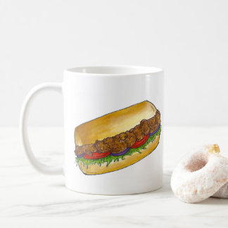 New Orleans NOLA Cajun Shrimp Po'Boy Sandwich Coffee Mug