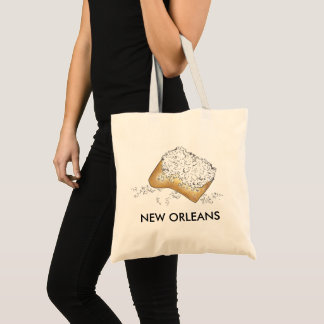 New Orleans NOLA Louisiana Sugary Beignet Pastry Tote Bag