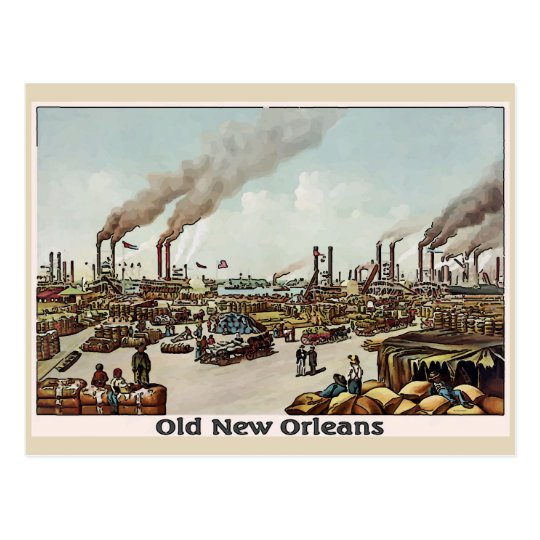 New Orleans Old Time River Front Postcard