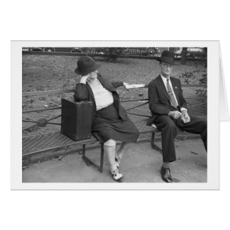 New Orleans Park Bench, 1930s Card