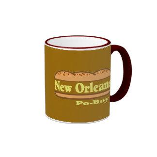 New Orleans Po Boy, New Orleans Po Boy Ringer Mug