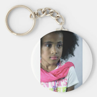 """New Orleans Princess of Bounce """"Baby Erin"""" Basic Round Button Key Ring"""