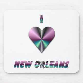 New Orleans -- Purple & Turquoise Mouse Pad