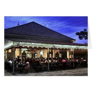 New Orleans Restaurants Coffee Shop Card