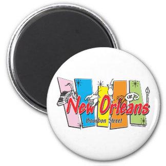 New-Orleans-Retro 6 Cm Round Magnet