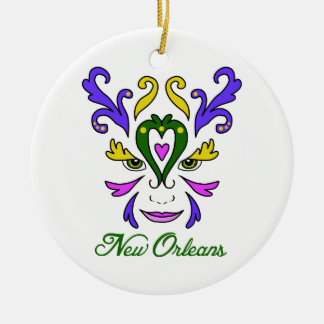 New Orleans Round Ceramic Decoration
