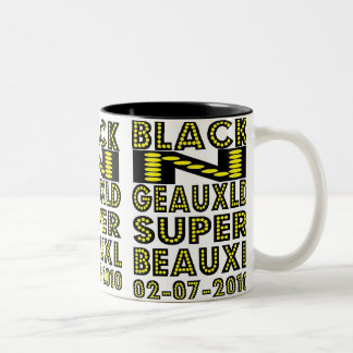 NEW ORLEANS SAINTS SUPERBOWL 2010 Two-Tone COFFEE MUG