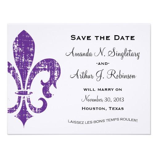 New Orleans | Save the Date | Purple Custom Invites