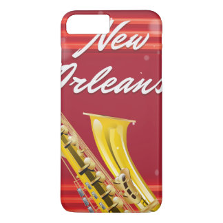 New Orleans Saxophone travel poster iPhone 7 Plus Case