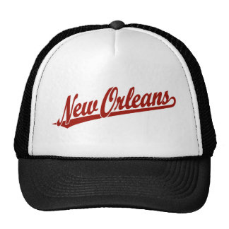New Orleans script logo in red Cap