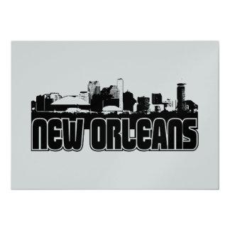 New Orleans Skyline 13 Cm X 18 Cm Invitation Card