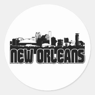 New Orleans Skyline Classic Round Sticker