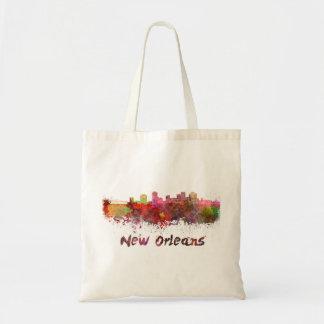 New Orleans skyline in watercolor Tote Bag