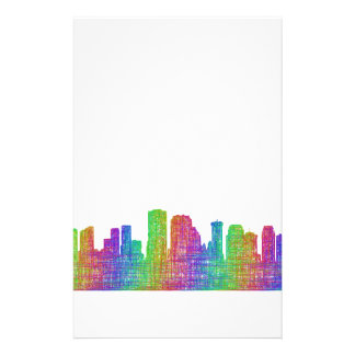 New Orleans skyline Personalized Stationery