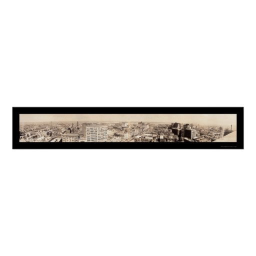 New Orleans Skyline Photo 1919 Poster