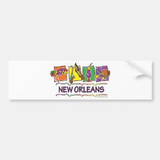 NEW-ORLEANS-SQUARES-eps copy Bumper Sticker