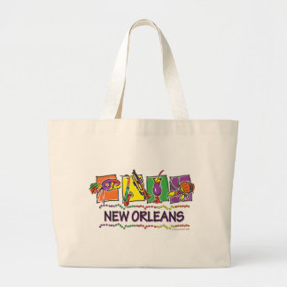 NEW-ORLEANS-SQUARES-eps copy Large Tote Bag